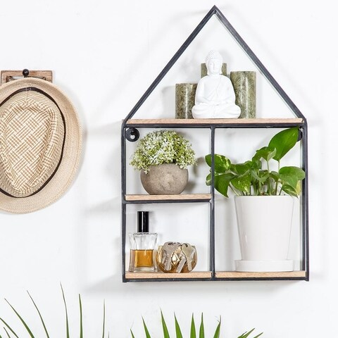 Malroy Hut Shaped Floating Wall Shelf