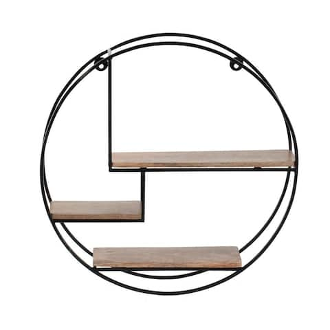 Marly Round Floating Wall Shelf - 19.50 x 19.50 x 4.75