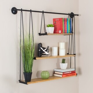 Luna Three Tier Suspended Wall Shelf