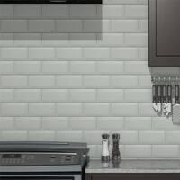 SomerTile 3x6-inch Islay Craquelle Biselado Blanco Ceramic Wall Tile (88 tiles/12.41 sqft.)