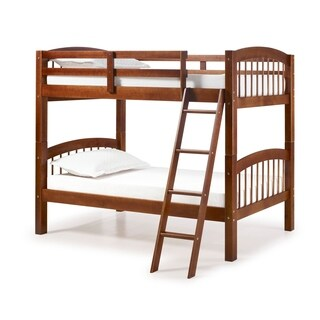 Spindle Chestnut Finish Brazilian Pine Twin Over Twin Bunk Bed