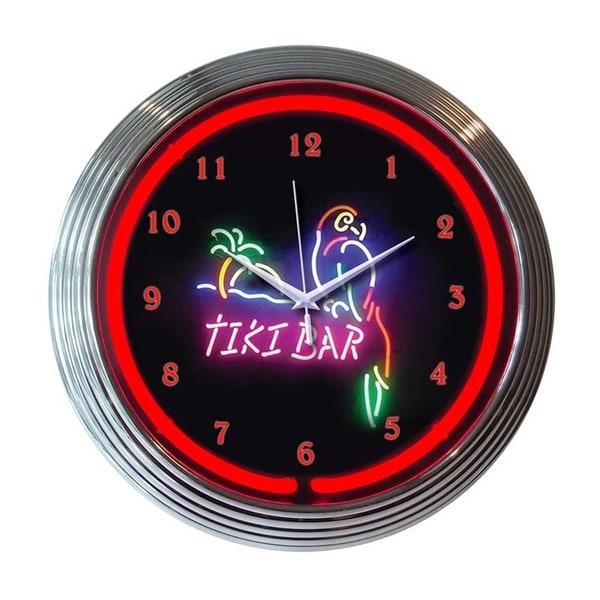 Neonetics Indoor Hand Blown Tiki Bar Neon Clock