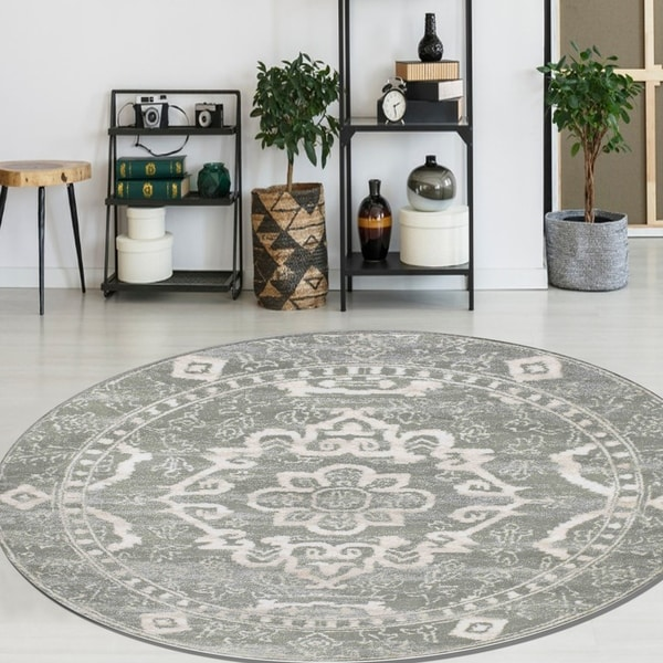 "Catherine Medallion Area Rug - 5'3"" Round"