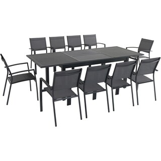 "Cambridge Turner 11-Piece Expandable Dining Set with 10 Sling Dining Chairs and a 40"" x 94"" Table"