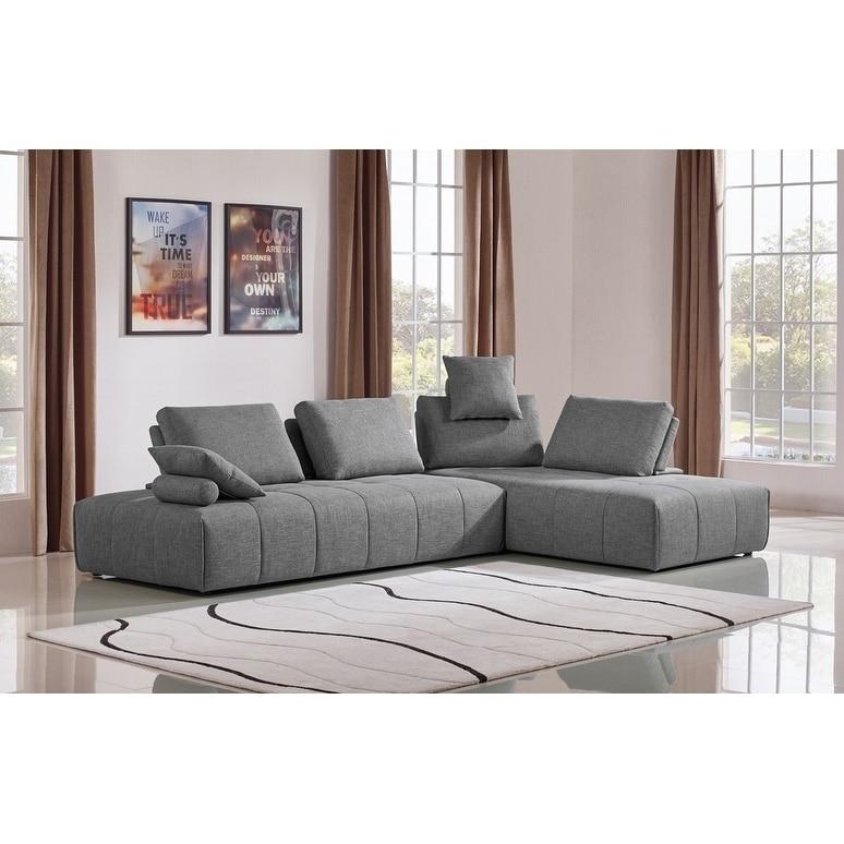 Arte Design Divani.Divani Casa Edgar Modern Grey Fabric Modular Sectional Sofa