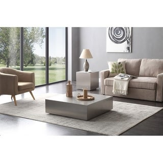 Modrest Anvil Modern Brushed Stainless Steel Coffee Table