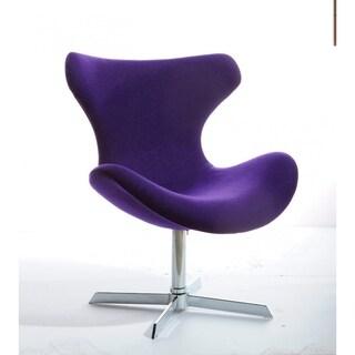 Modrest Aludra Modern Purple Fabric Lounge Chair