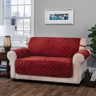 Innovative Textile Solutions Logan Solid Plush Loveseat Slipcover