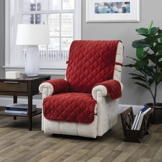 Link to ITS Logan Solid Plush Recliner Furniture Protector Similar Items in Slipcovers & Furniture Covers