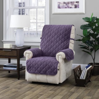 Logan with Straps Recliner Furniture Protector Slipcover (Option: Purple)