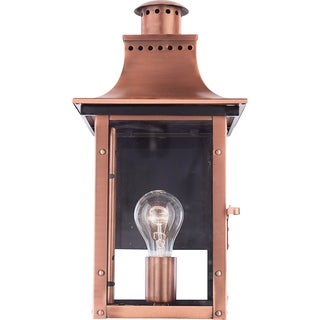 Quoizel Chalmers Aged Copper 1-light Outdoor Wall Lantern