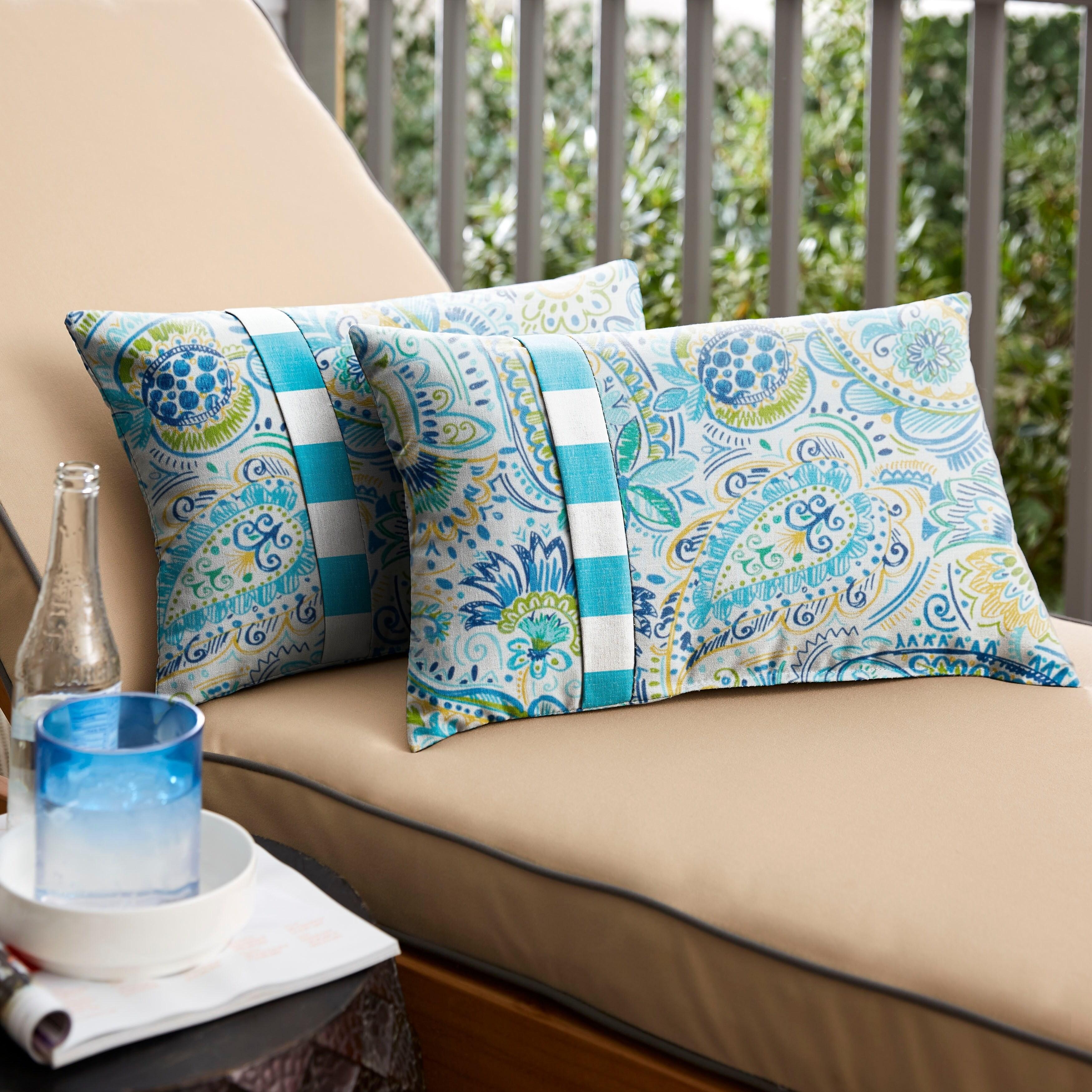2-Pack 2021 Sand Tan Outdoor Lumbar Throw Pillows