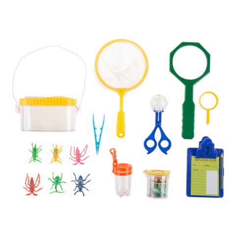 Kids Bug and Insect Kit- 17 PC Exploration Set with Magnifying Glass Hey! Play!
