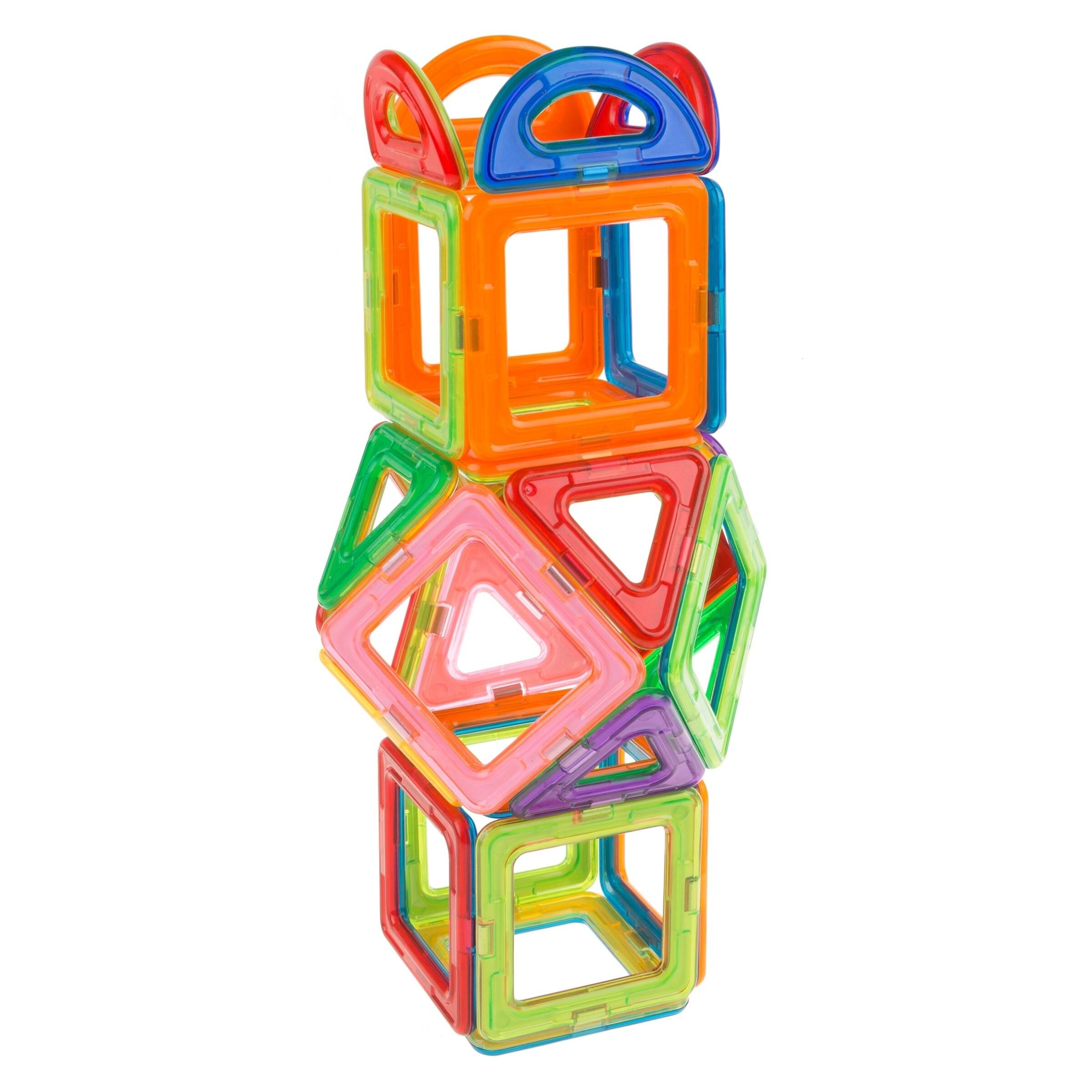 Construction Magnetic Toys Building Tiles Blocks Educational 40 pieces set box