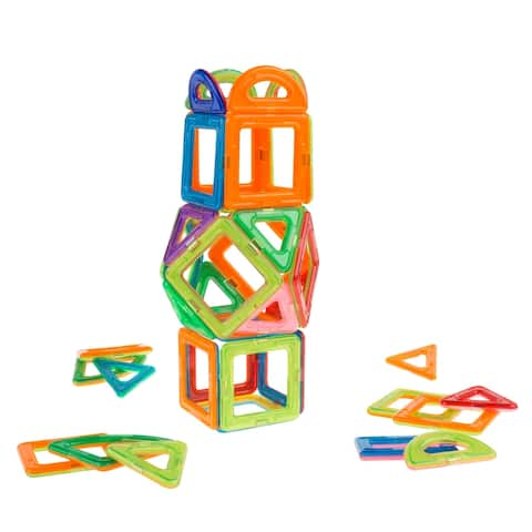 Magnetic Tile Toy-40 PC. Building Magnet Block Toy Set for STEM Hey! Play!