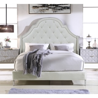 Chic Home Constantine Velvet Upholstered Bed Frame with Headboard