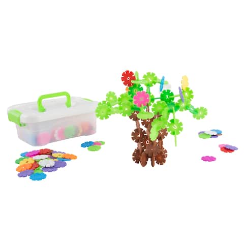 Imagination Flakes- Interlocking Plastic Disc Toy Set with Letters and Numbers Hey! Play!