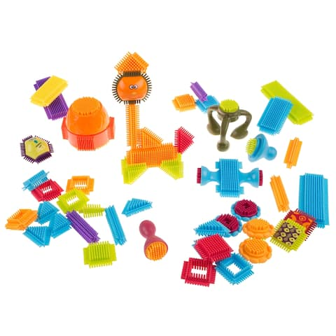 Brush Shape Building Blocks- Interlocking 3D Tile Toy Set for STEM, Building, Stacking by Hey! Play!