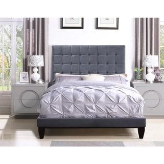 Chic Home Handel Velvet Upholstered Bed Frame with Headboard
