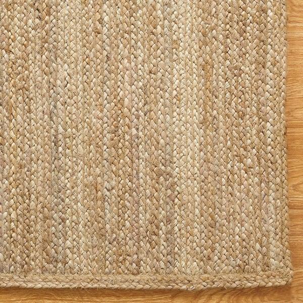 Miranda Haus Natural Fibers Hand Woven Braided Jute