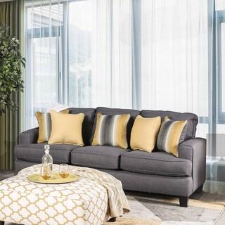 Tristan Contemporary Grey Square Arms Sofa by FOA