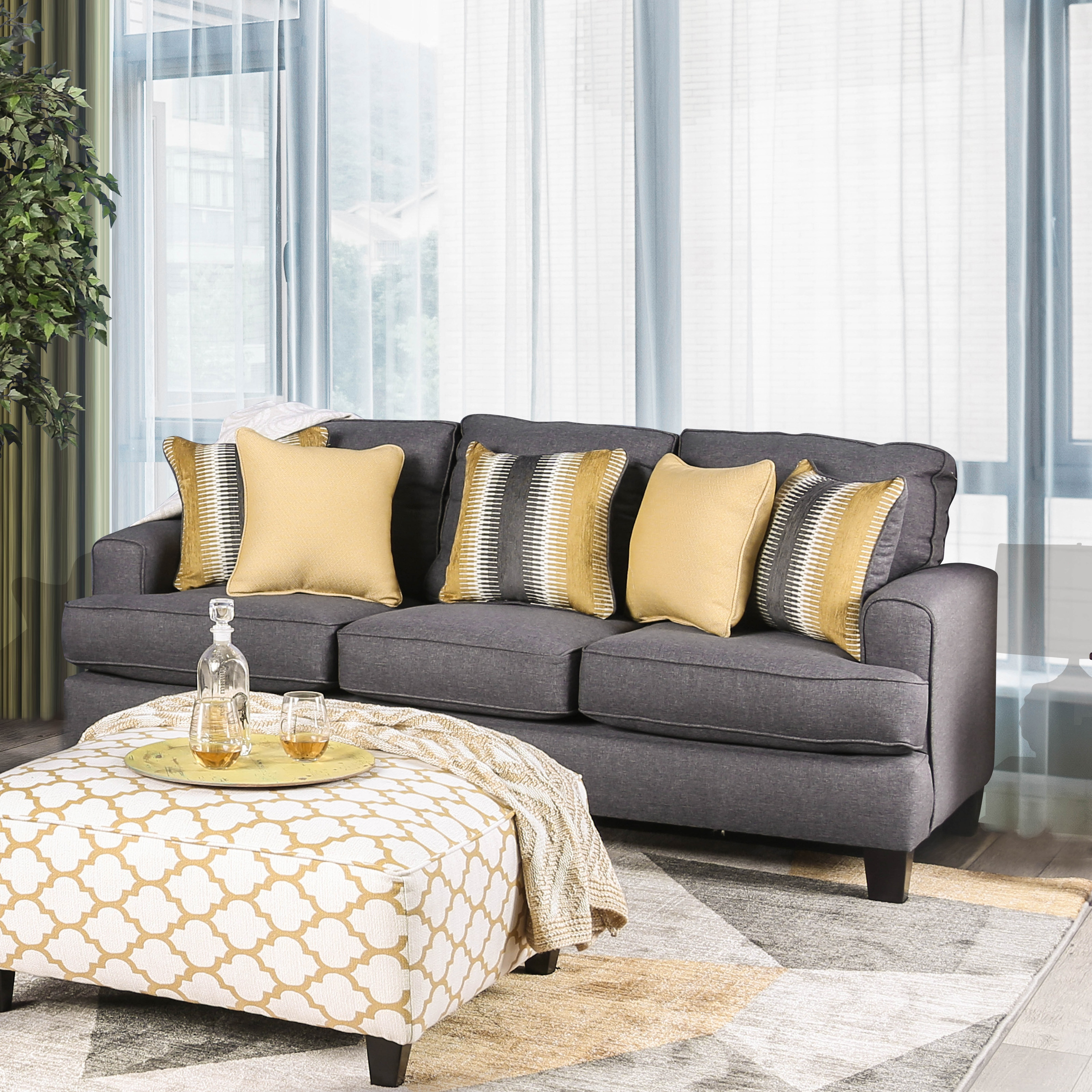 Miraculous Tristan Contemporary Grey 2 Piece Sofa Set By Foa Pdpeps Interior Chair Design Pdpepsorg