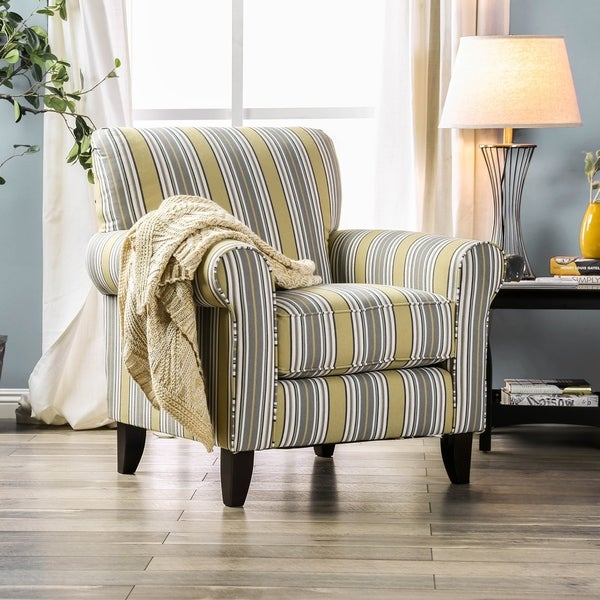 Furniture of America Omsk Modern Multi-color Fabric Padded Accent Chair. Opens flyout.