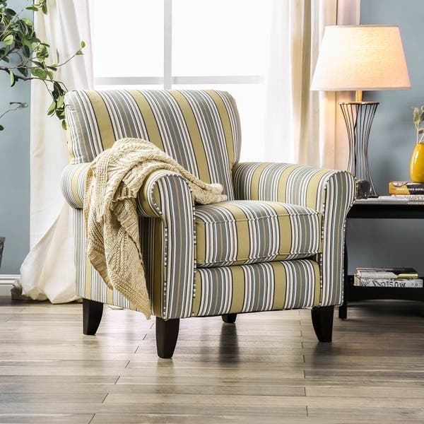 Shop Addison Contemporary Multi Striped Accent Chair by FOA ...