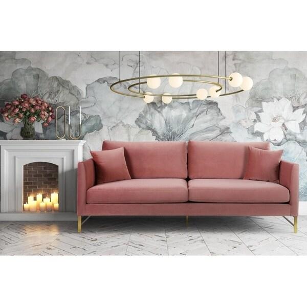 Shop Massi Rose Velvet Sofa Free Shipping Today