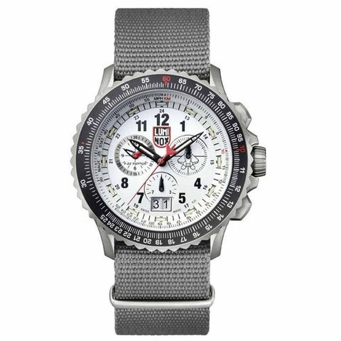 Luminox Men's 9249 F-22 Raptor Titanium Chrono Nylon Strap Watch - N/A