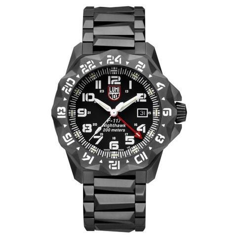Luminox Men's 6422 F-117 Nighthawk 6400 Series Black Stainless Bracelet Watch