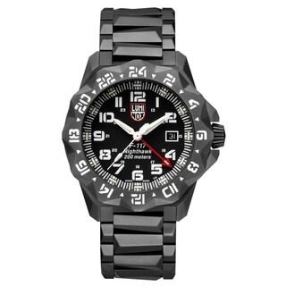 Luminox Men's 6422 F-117 Nighthawk 6400 Series Black Stainless Bracelet Watch - N/A