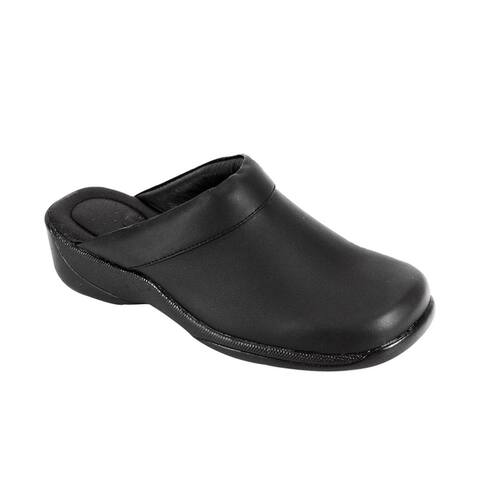 24 HOUR COMFORT Frida Women Wide Width Trendy Mule Shoes by  #1