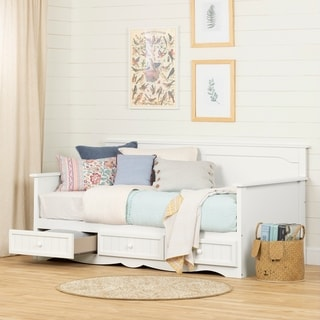 South Shore Savannah Twin Daybed with Storage (Pure White)