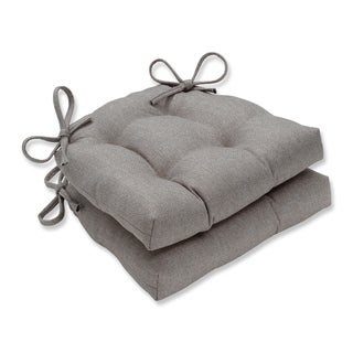 Pillow Perfect Indoor Sonoma Linen Reversible Chair Pad (Set of 2), 16 in. L X 15.5 in. W X 4 in. D