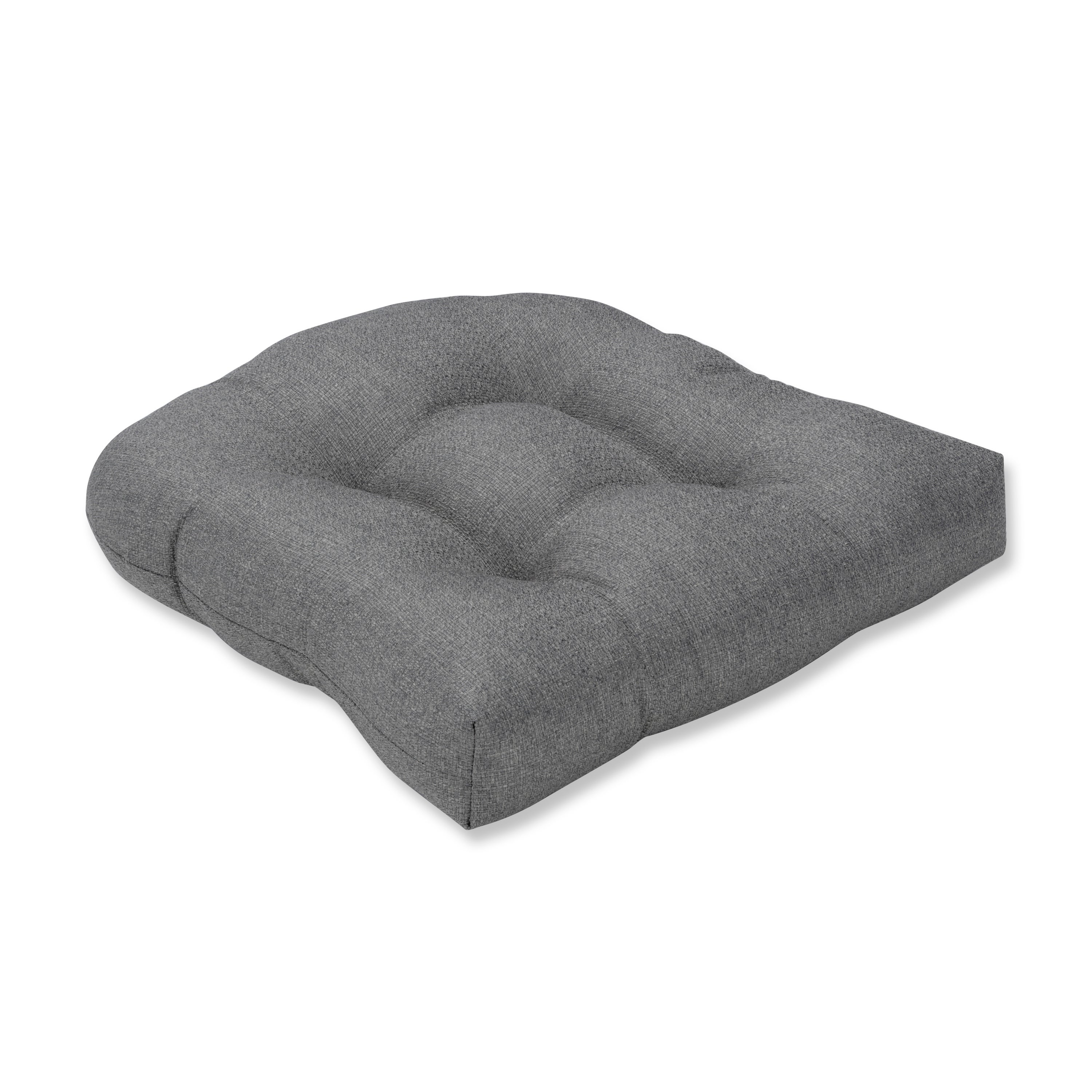Pillow Perfect Indoor Sonoma Pewter Wicker Seat Cushion, 19 in. L X 19 in. W X 5 in. D (N/A - Grey - Cotton)