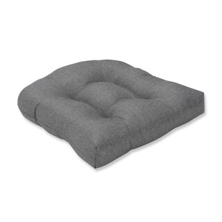 Pillow Perfect Indoor Sonoma Pewter Wicker Seat Cushion, 19 in. L X 19 in. W X 5 in. D