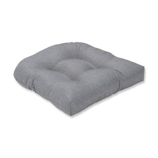 Pillow Perfect Indoor Sonoma Silver Wicker Seat Cushion, 19 in. L X 19 in. W X 5 in. D