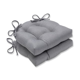 Pillow Perfect Indoor Sonoma Silver Reversible Chair Pad (Set of 2), 16 in. L X 15.5 in. W X 4 in. D