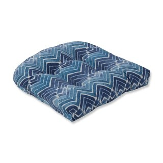 Pillow Perfect Indoor Zen Blend Indigo Wicker Seat Cushion, 19 in. L X 19 in. W X 5 in. D