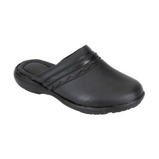 24 HOUR COMFORT Maura Women Wide Width Trendy Mule Shoes
