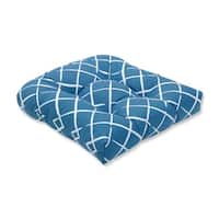 Pillow Perfect Indoor Cove End Pool Wicker Seat Cushion, 19 in. L X 19 in. W X 5 in. D