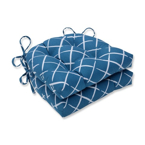 Pillow Perfect Indoor Cove End Pool Reversible Chair Pad (Set of 2), 16 in. L X 15.5 in. W X 4 in. D