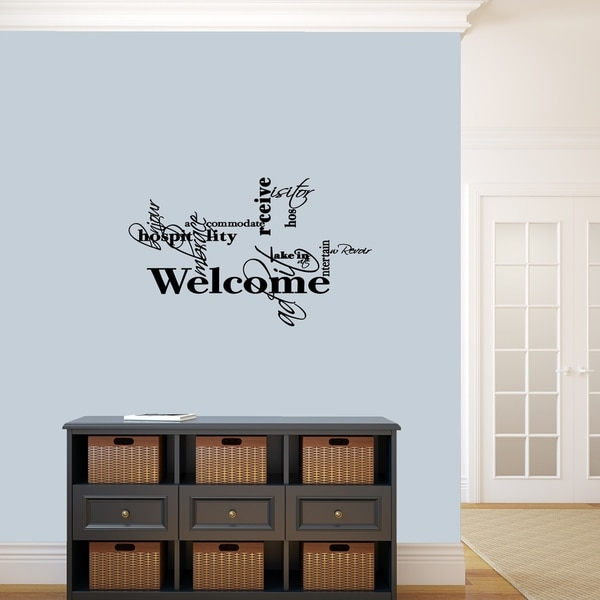 shop words for welcome wall decal - medium - on sale - free shipping