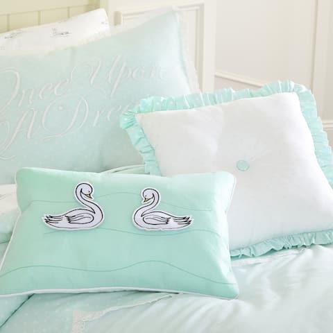 Asher Home Dottie Polka Dot Dreams Swan Interactive Pillow