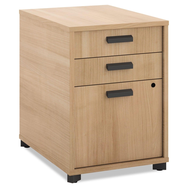 HON Manage Pencil/Pencil/File/Pedestal File, Laminate, Wheat