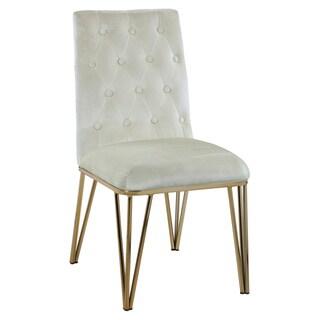 Chic Home Freya Velvet Upholstered Dining Chair,Set of 2 (Beige)