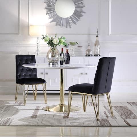 Chic Home Freya Velvet Upholstered Dining Chair,Set of 2
