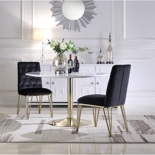 Chic Home Freya Velvet Upholstered Dining Chair,Set of 2 - N/A