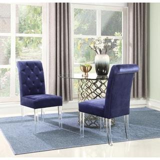 Chic Home Tate Velvet Upholstered Dining Chair,Set of 2 (navy)